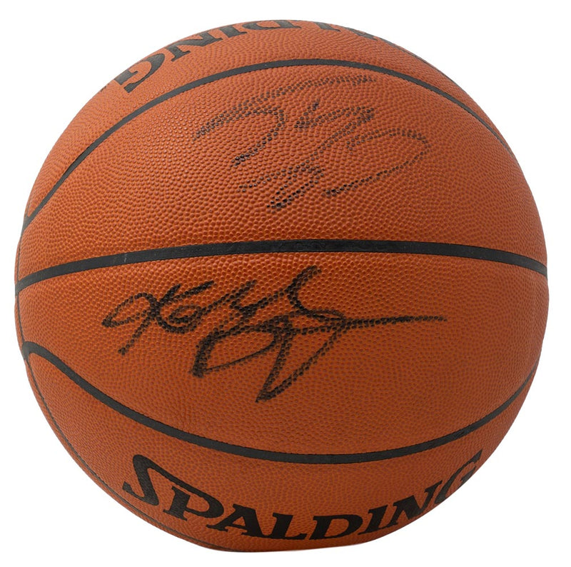Kobe Bryant Shaquille O'Neal Signed Spalding Game Basketball PSA BAS WA29487 PSM-Powers Sports Memorabilia