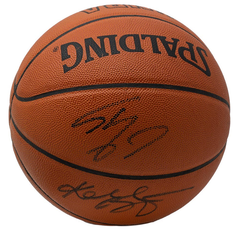 Kobe Bryant Shaquille O'Neal Signed Spalding Game Basketball PSA BAS WA29479 PSM-Powers Sports Memorabilia