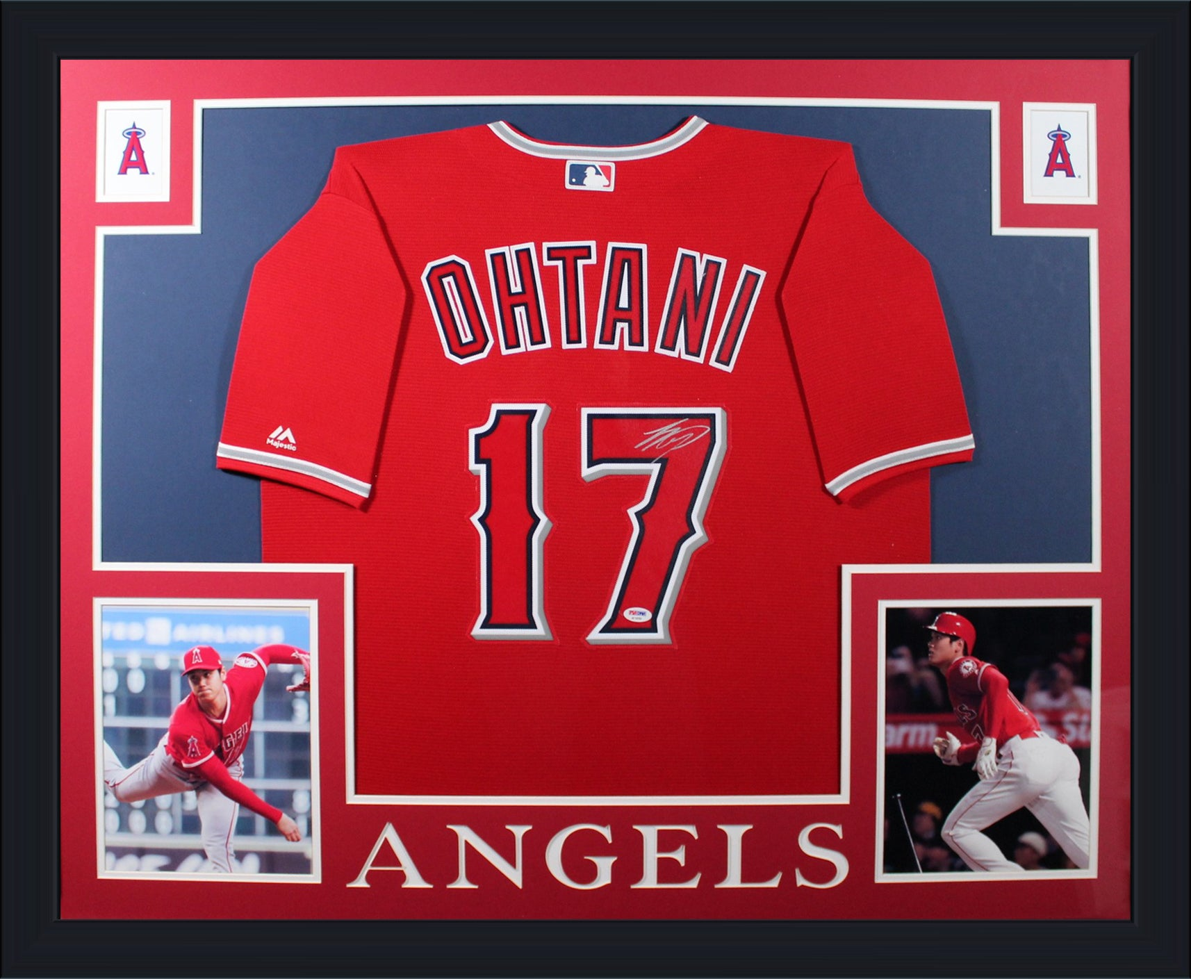 Shohei Ohtani Autographed Los Angeles Angels Signed Majestic Baseball Jersey Framed PSA DNA COA-Powers Sports Memorabilia