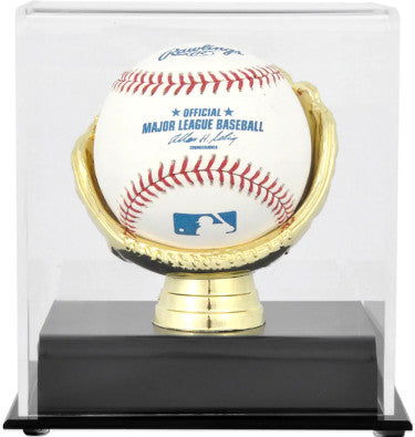 Baseball 1-Ball Steiner Sports Deluxe Acrylic Gold Glove Display Case, black base PSM-Powers Sports Memorabilia