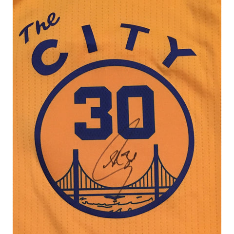 Stephen Curry Autographed Golden State Warriors Signed Adidas Swingman THE CITY Basketball Jersey JSA COA-Powers Sports Memorabilia