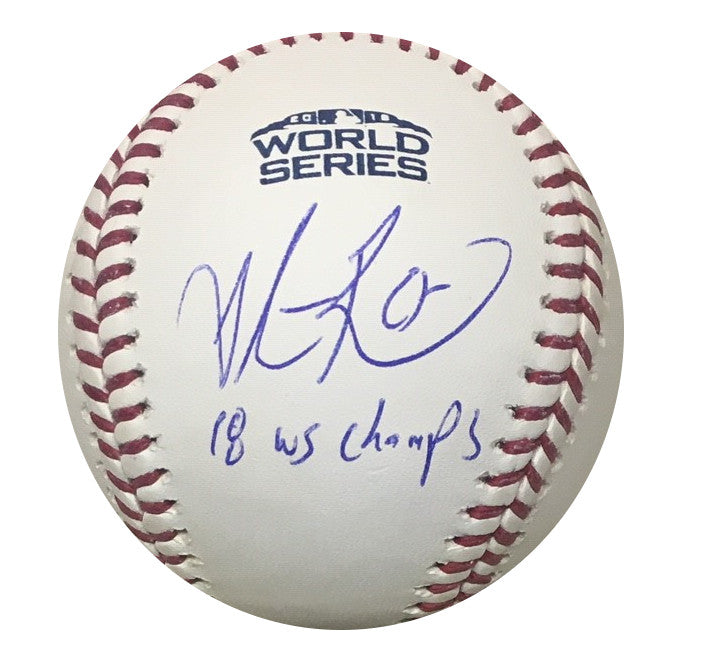 4819e5710c4df Steve Pearce Boston Red Sox Autographed 2018 World Series MVP Signed  Baseball Fanatics MLB Authenticated With ...