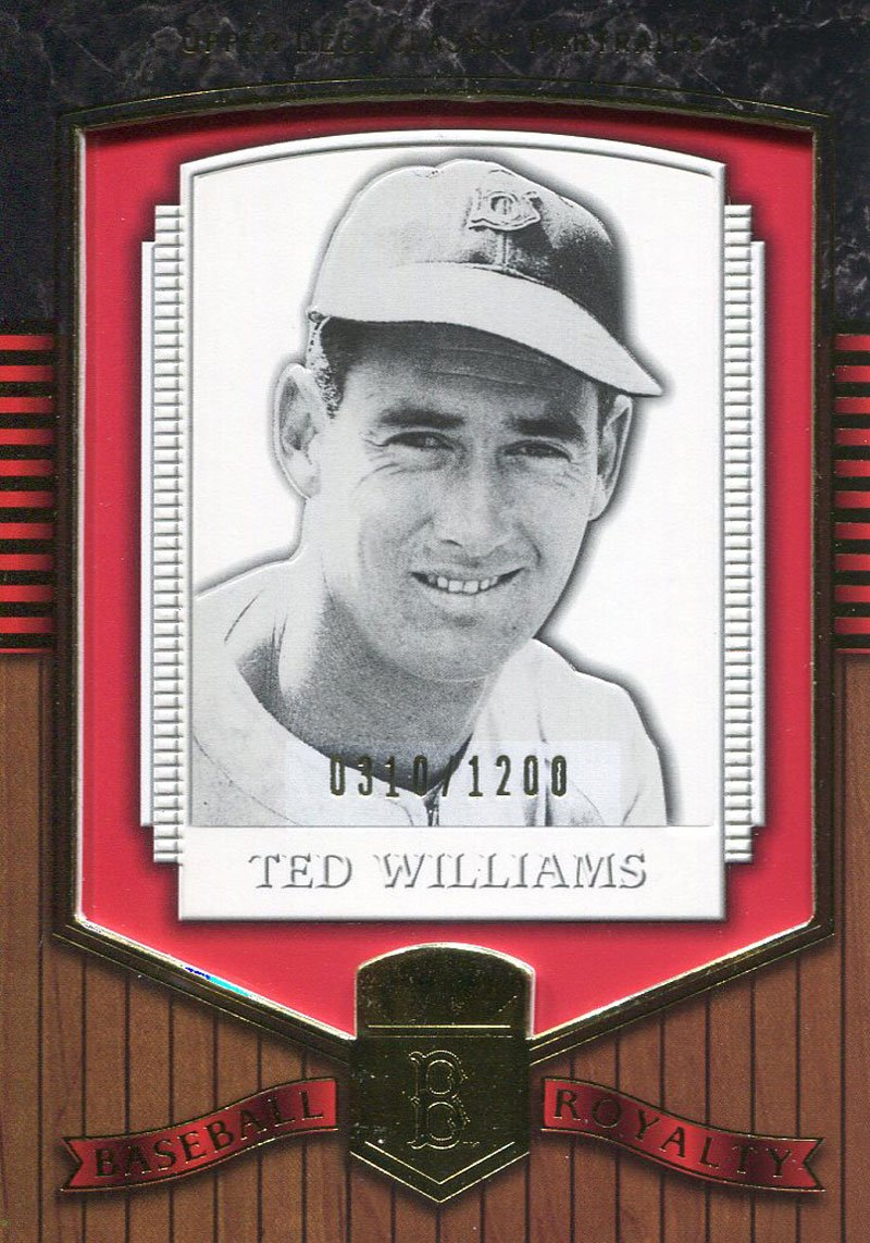 Ted Williams Unsigned 2003 Upper Deck Portraits Card PSM-Powers Sports Memorabilia