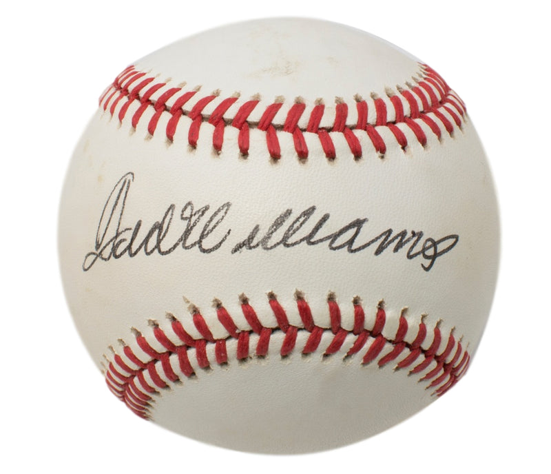Ted Williams Boston Red Sox Signed OAL Baseball BAS A62797 PSM-Powers Sports Memorabilia