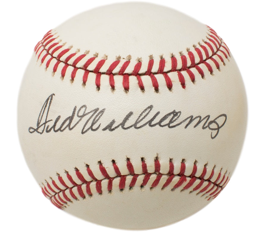 Ted Williams Boston Red Sox Signed OAL Baseball BAS A62800 PSM-Powers Sports Memorabilia