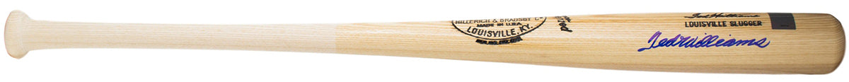 Ted Williams Boston Red Sox Signed Louisville Slugger Baseball Bat BAS A62775 PSM-Powers Sports Memorabilia