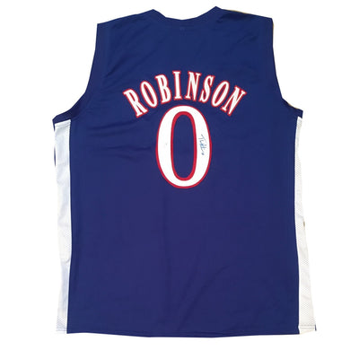 Thomas Robinson Kansas Autographed Blue Signed Basketball Jersey JSA COA-Powers Sports Memorabilia