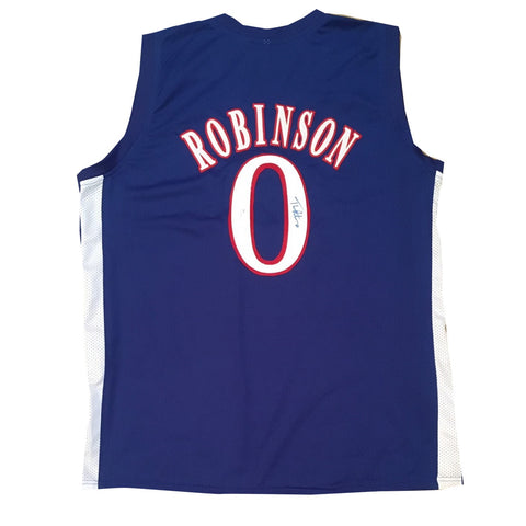 bac0721d1d03 Thomas Robinson Kansas Autographed Blue Signed Basketball Jersey JSA  COA-Powers Sports Memorabilia ...