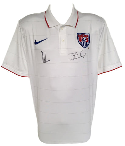 Tim Howard Clint Dempsey Signed Authentic USA Soccer Jersey Large JSA+Steiner PSM-Powers Sports Memorabilia