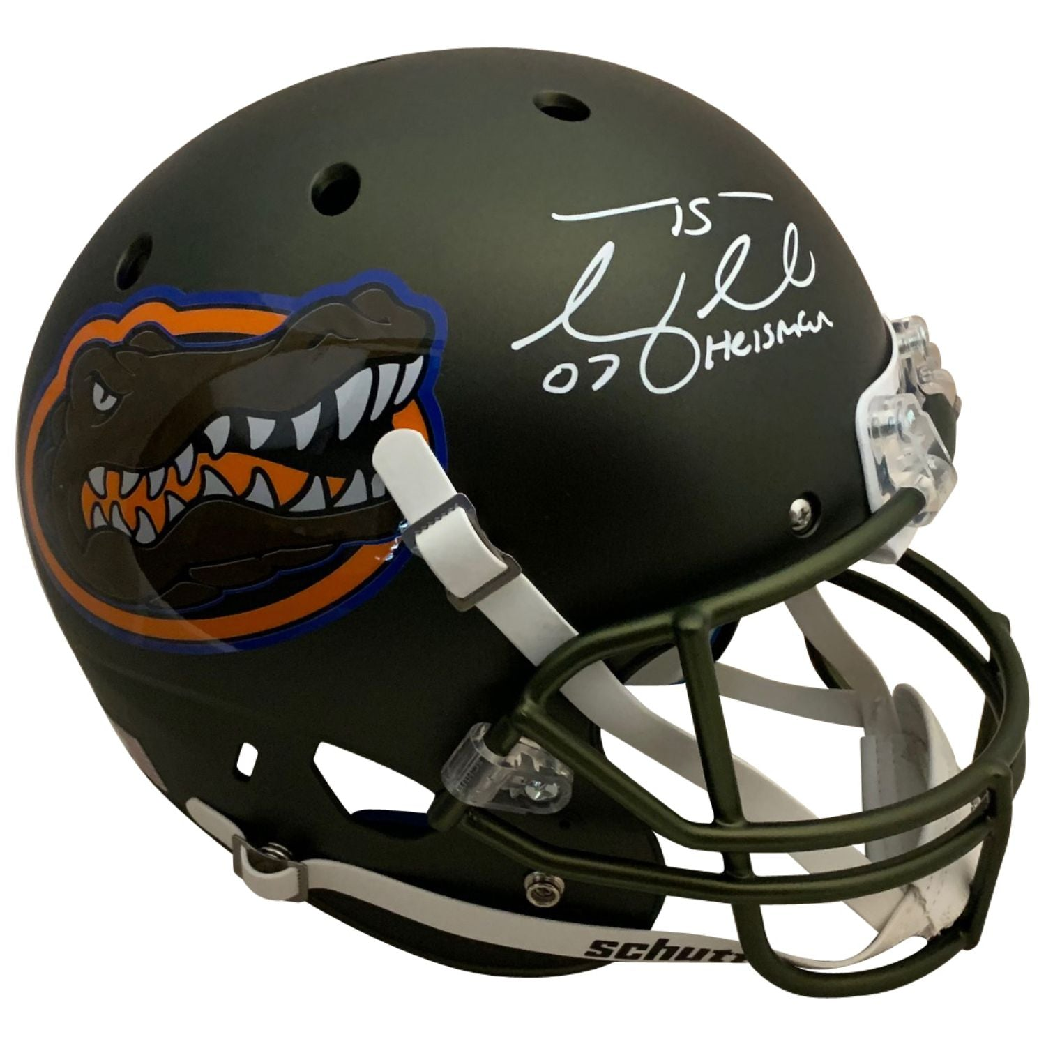 Tim Tebow Autographed Florida Gators Signed Full Size Football Helmet 2007 HEISMAN TROPHY-Powers Sports Memorabilia