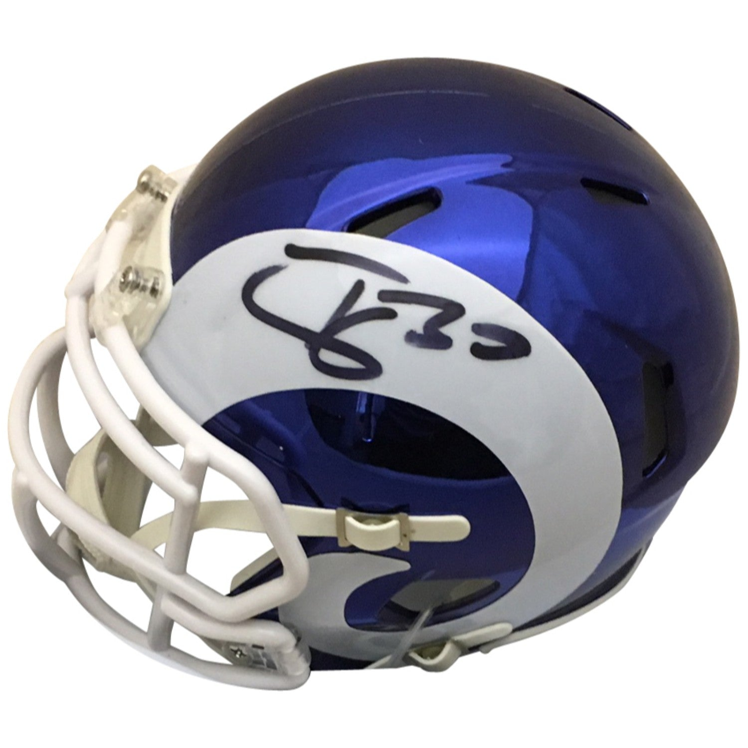 637d42a0 Todd Gurley Autographed Los Angeles Rams Chrome Signed Mini Helmet PSA DNA  COA
