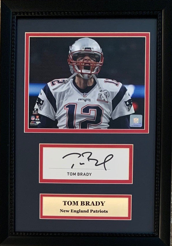 Tom Brady New England Patriots Autographed Football Signed Book Page Framed Photo Display JSA COA-Powers Sports Memorabilia