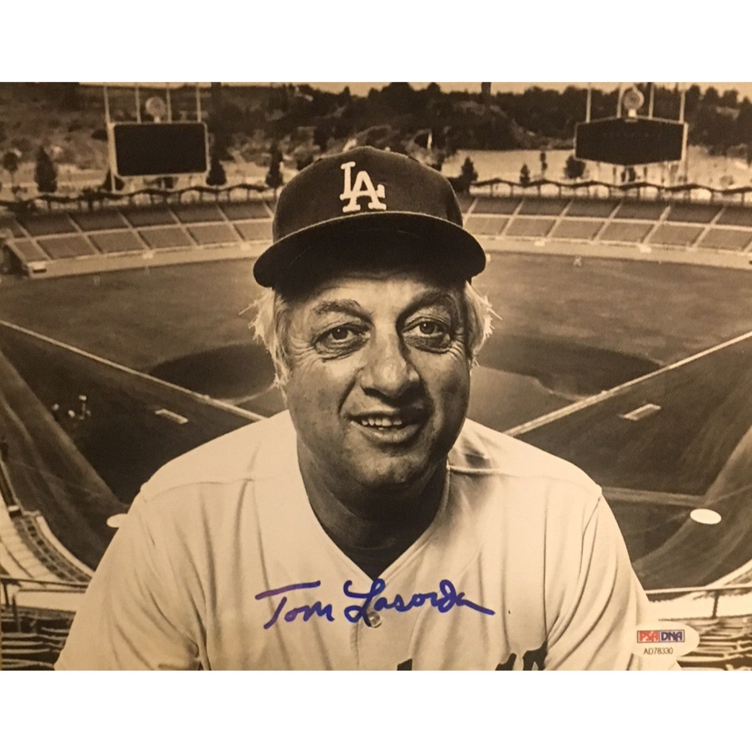 Tommy Lasorda Autographed Los Angeles Dodgers Signed 8x10 Baseball Photo PSA DNA COA-Powers Sports Memorabilia