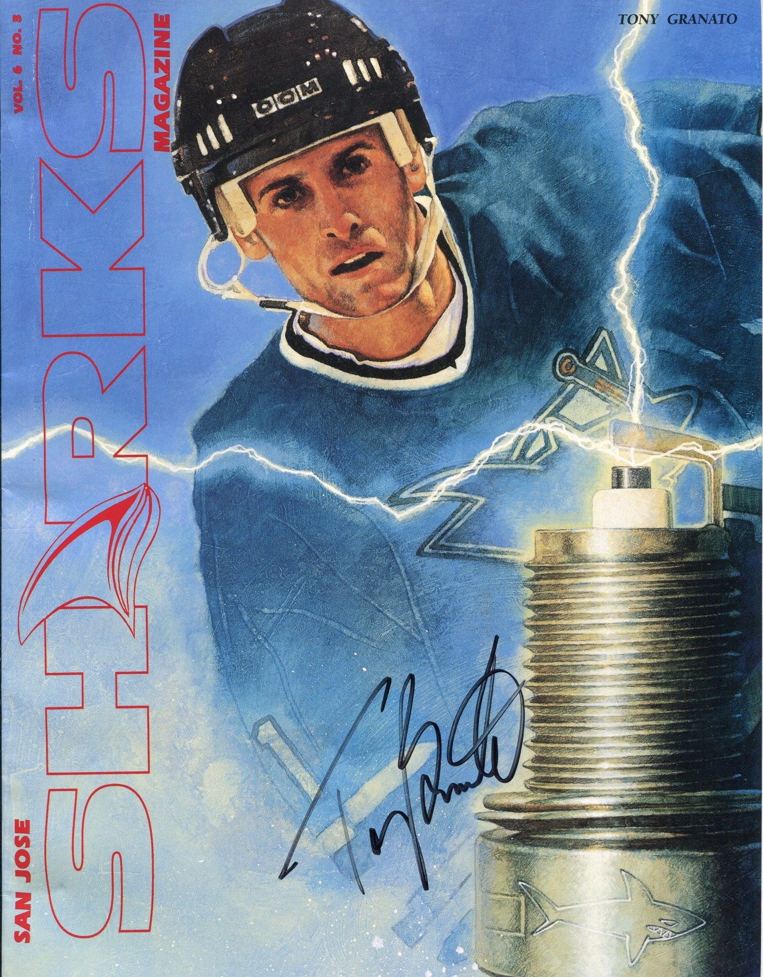 Tony Granato Autographed San Jose Sharks Magazine PSM-Powers Sports Memorabilia