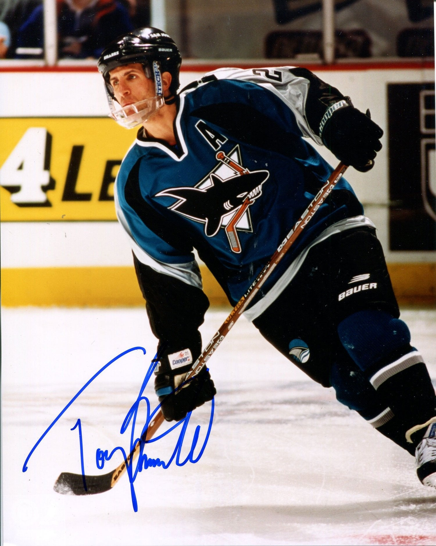 Tony Granato Autographed San Jose Sharks 8x10 Photo PSM-Powers Sports Memorabilia