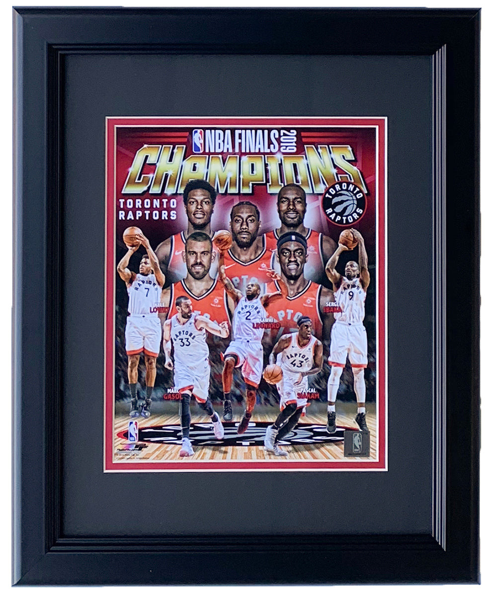 Toronto Raptors Framed 8x10 2019 NBA Championship Collage Photo PSM-Powers Sports Memorabilia
