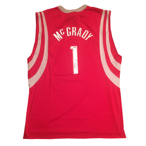 5663a3b3a948 Tracy McGrady Autographed Houston Rockets Signed Reebok Basketball Jersey  PSA DNA COA-Powers Sports Memorabilia ...