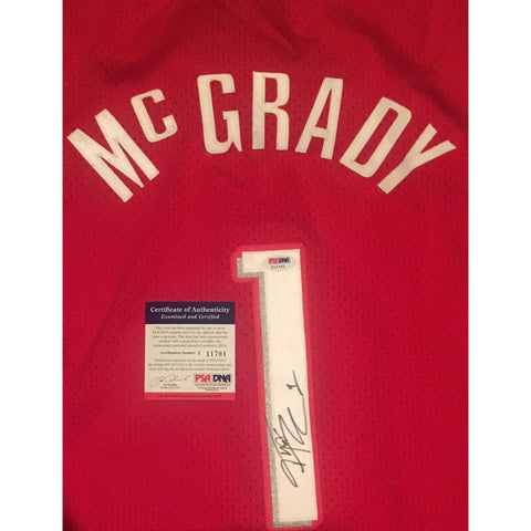 8b7aee62524 ... Tracy McGrady Autographed Houston Rockets Signed Reebok Basketball  Jersey PSA DNA COA-Powers Sports Memorabilia