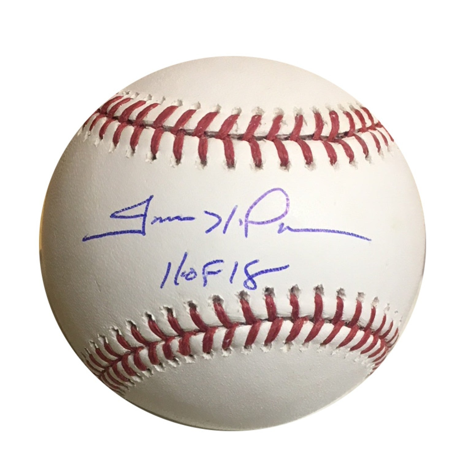 Trevor Hoffman San Diego Padres Autographed Hall of Fame HOF 18 Signed Baseball JSA COA 2 With UV Display Case-Powers Sports Memorabilia