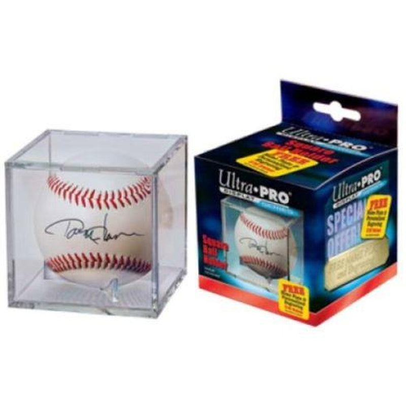 Ultra Pro UV Protected Square Cube Baseball Display Case-Powers Sports Memorabilia