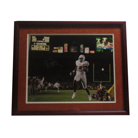 Vince Young Autographed Texas Signed Football 16x20 Framed Photo 2005 vs USC TRISTAR COA Photo