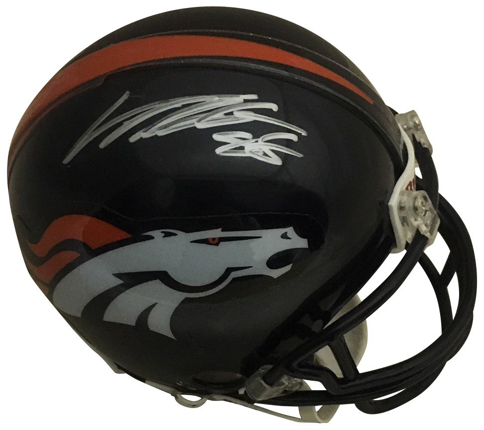 Von Miller Autographed Denver Broncos Signed Football Mini Helmet Psa Dna Coa