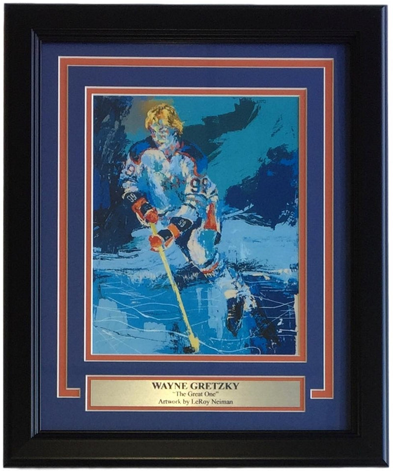 Leroy Neiman Framed 8x10 Wayne Gretzky The Great One Hockey Print PSM-Powers Sports Memorabilia