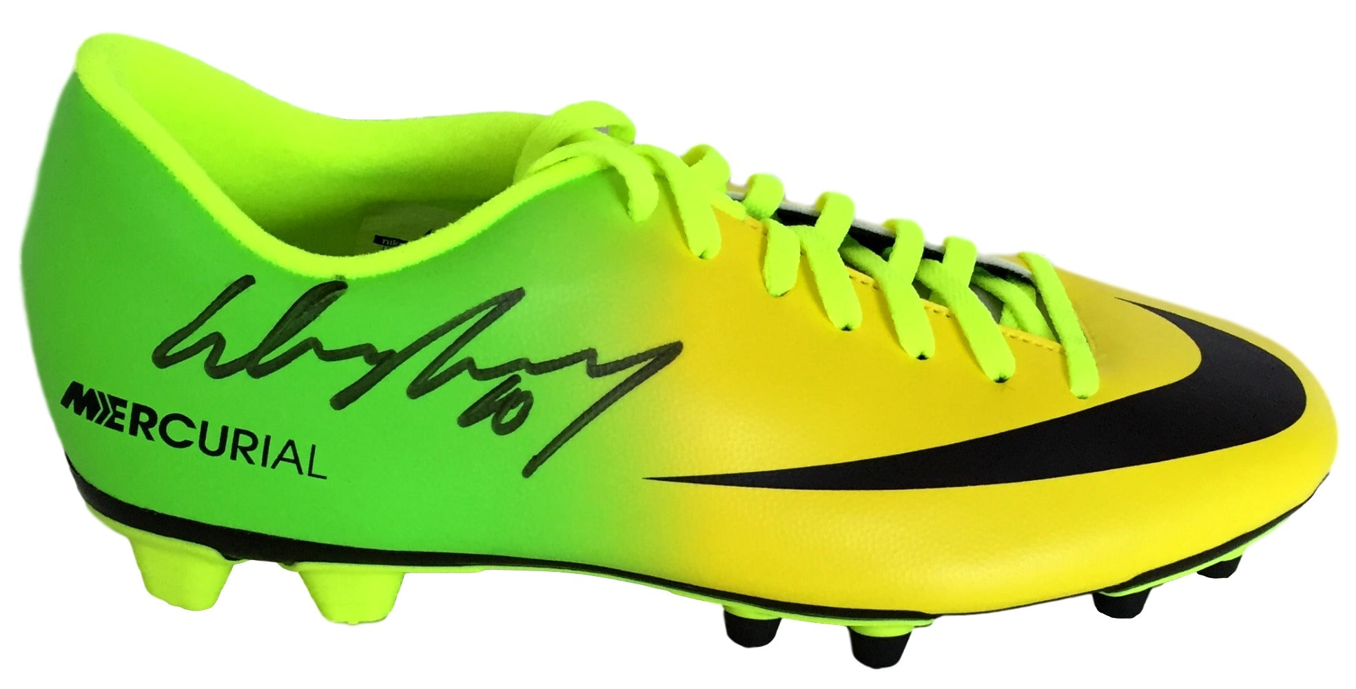 Wayne Rooney Signed Nike Mercurial Yellow Soccer Cleat JSA LOA + Icons PSM-Powers Sports Memorabilia