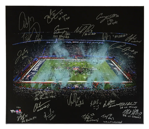 2017 Eagles 20x24 SB 52 Team Signed Canvas Wentz Foles Cox 20 Inscripts Fanatics PSM-Powers Sports Memorabilia