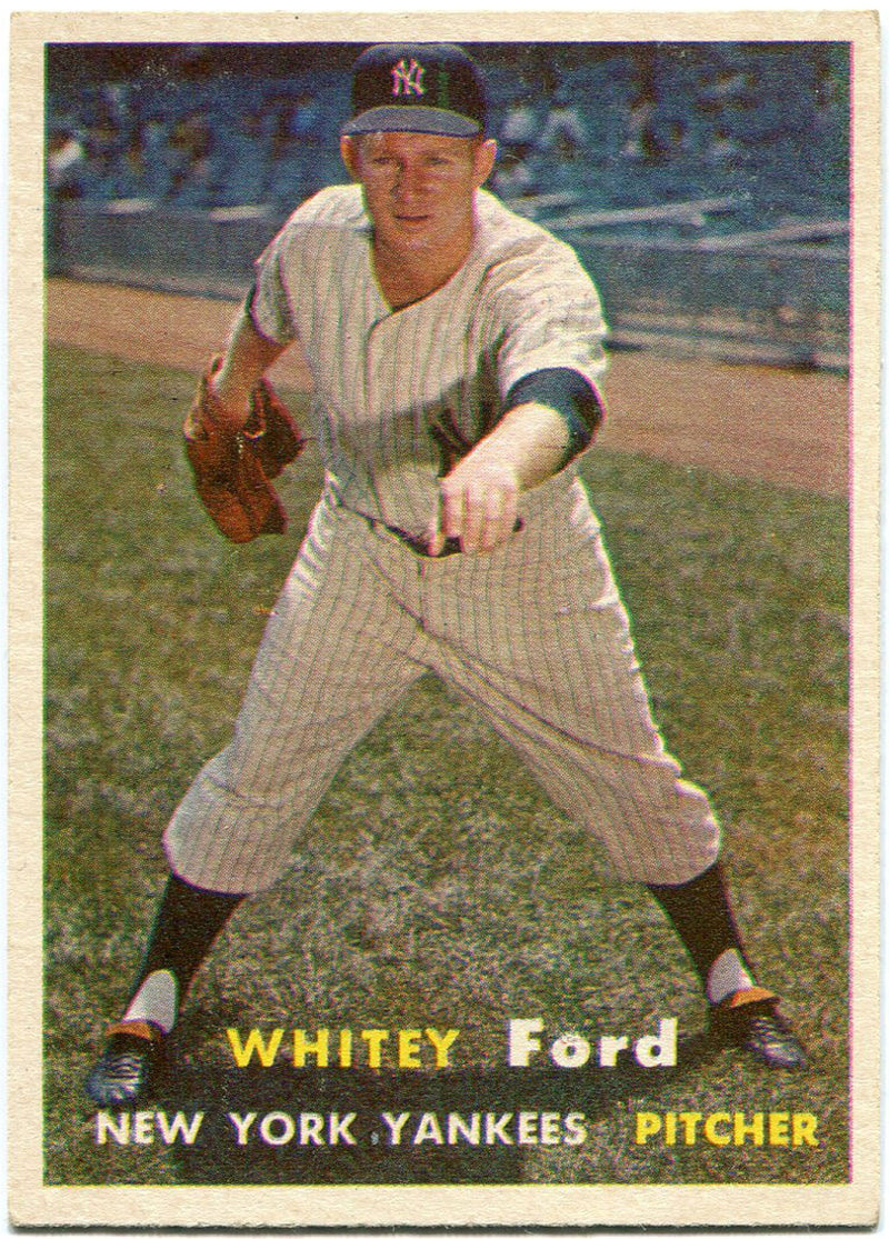 Whitey Ford 1957 Topps Card PSM-Powers Sports Memorabilia