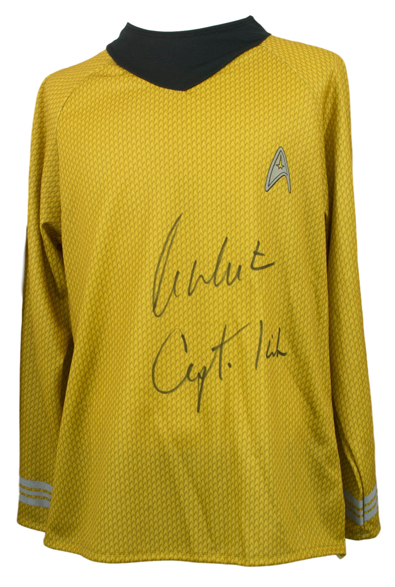 William Shatner Signed Star Trek Captain Kirk Costume Shirt w/Captain Insc JSA PSM-Powers Sports Memorabilia