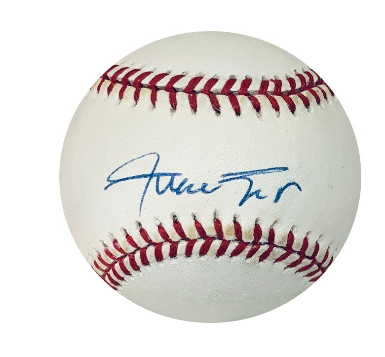 Willie Mays San Francisco Giants Autographed MLB National League Signed Baseball JSA COA With UV Display Case-Powers Sports Memorabilia