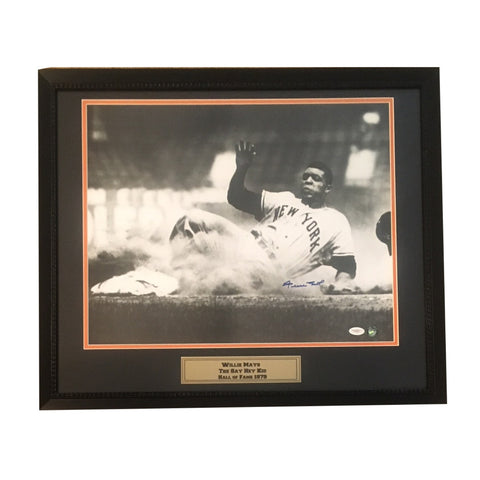 Willie Mays Autographed San Francisco Giants Signed 16x20 Framed Baseball Photo JSA-Powers Sports Memorabilia