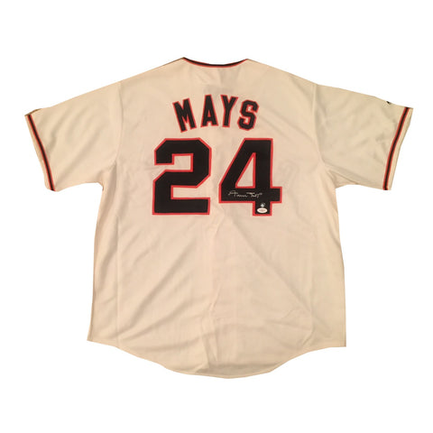 Willie Mays Autographed San Francisco Giants Signed Baseball Jersey JSA COA-Powers Sports Memorabilia