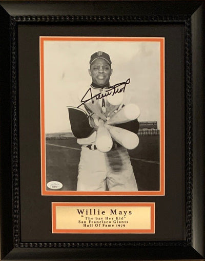 Willie Mays Autographed San Francisco Giants Signed Mlb Baseball 8x10