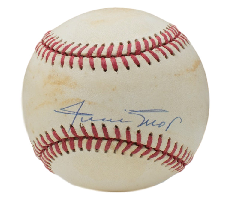Willie Mays Giants Signed Official National League Baseball JSA E78118 PSM-Powers Sports Memorabilia