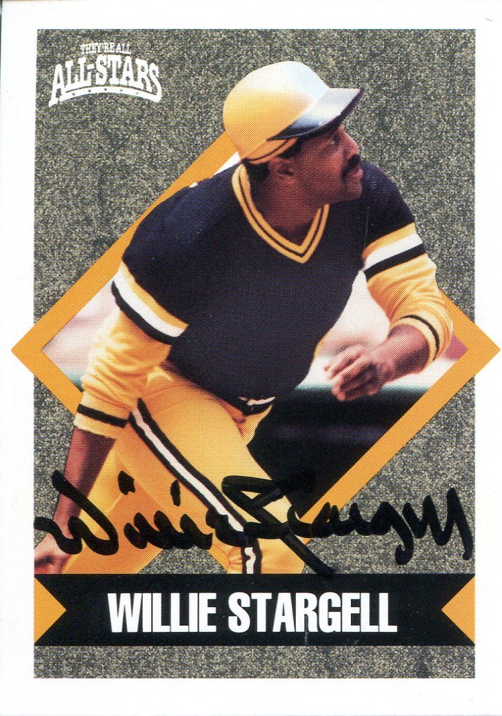 Willie Stargell Autographed 1991 Topps All-Stars Card PSM-Powers Sports Memorabilia