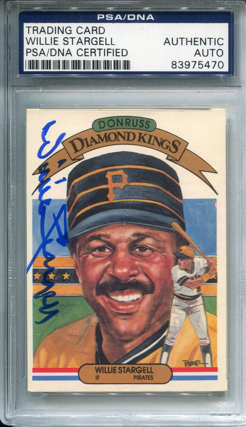 Willie Stargell Autographed 1982 Donruss Card (PSA) PSM-Powers Sports Memorabilia