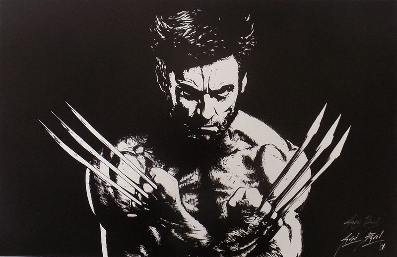 X-Men Wolverine 11x17 Lithograph Signed By Artist Jared Barel PSM-Powers Sports Memorabilia