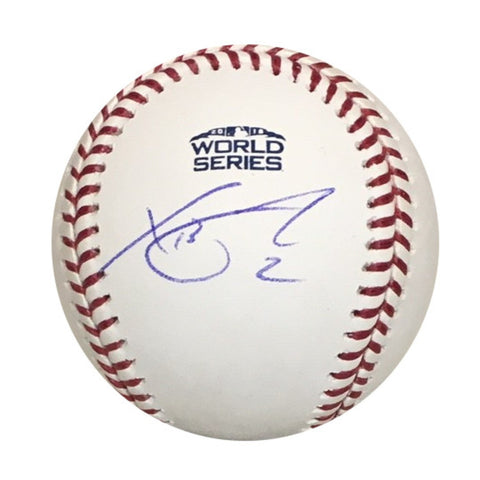 Xander Bogaerts Boston Red Sox Autographed 2018 World Series Signed Baseball PSA DNA COA With UV Display Case-Powers Sports Memorabilia