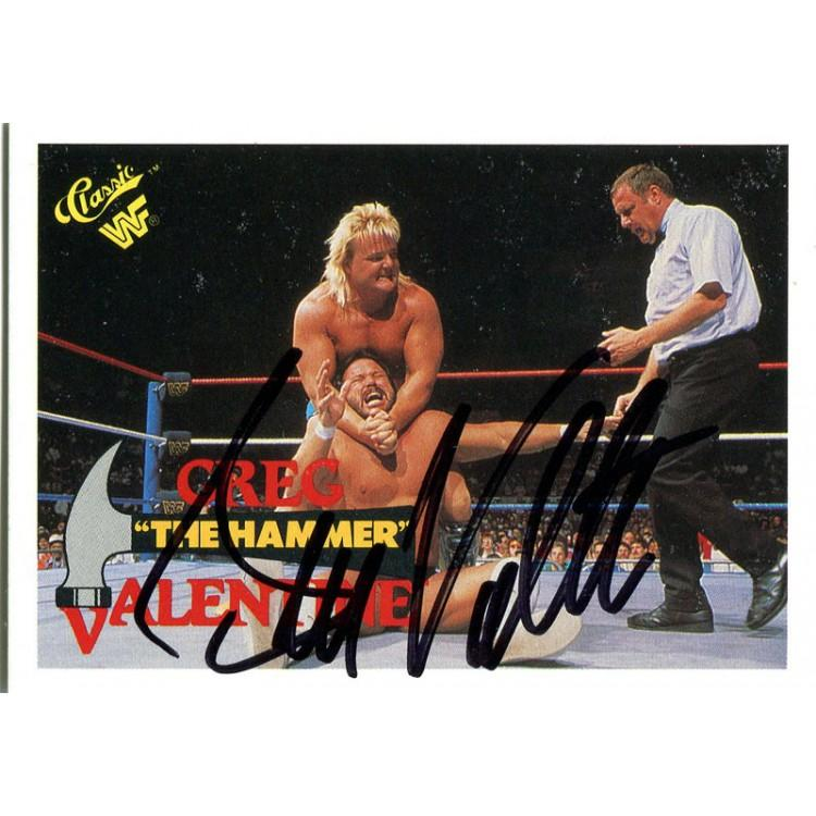 Greg Valentine Autographed 1989 Titan Sports Card PSM-Powers Sports Memorabilia
