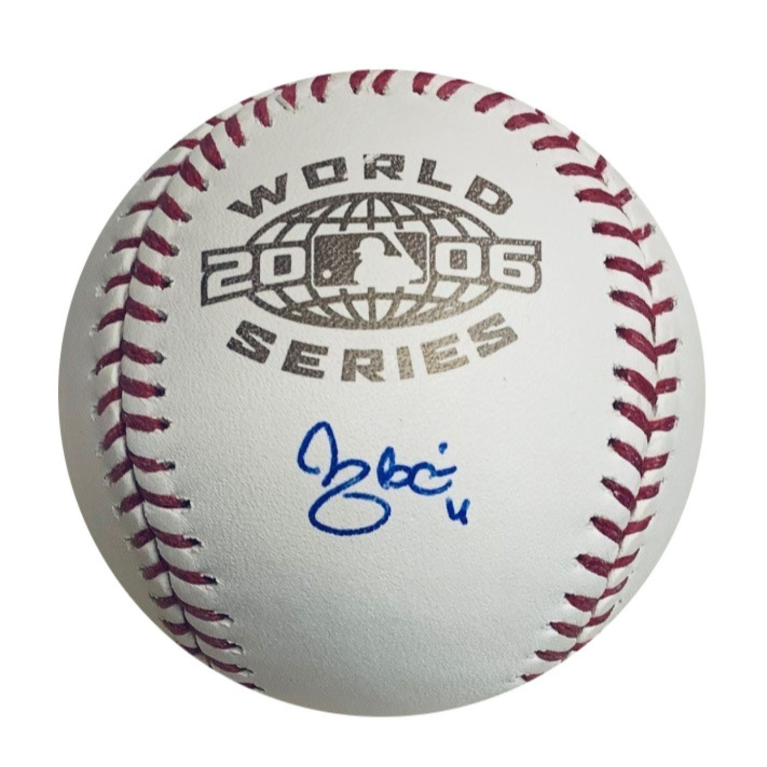 Yadier Molina St Louis Cardinals Autographed 2006 World Series Signed Baseball JSA COA With UV Display Case-Powers Sports Memorabilia