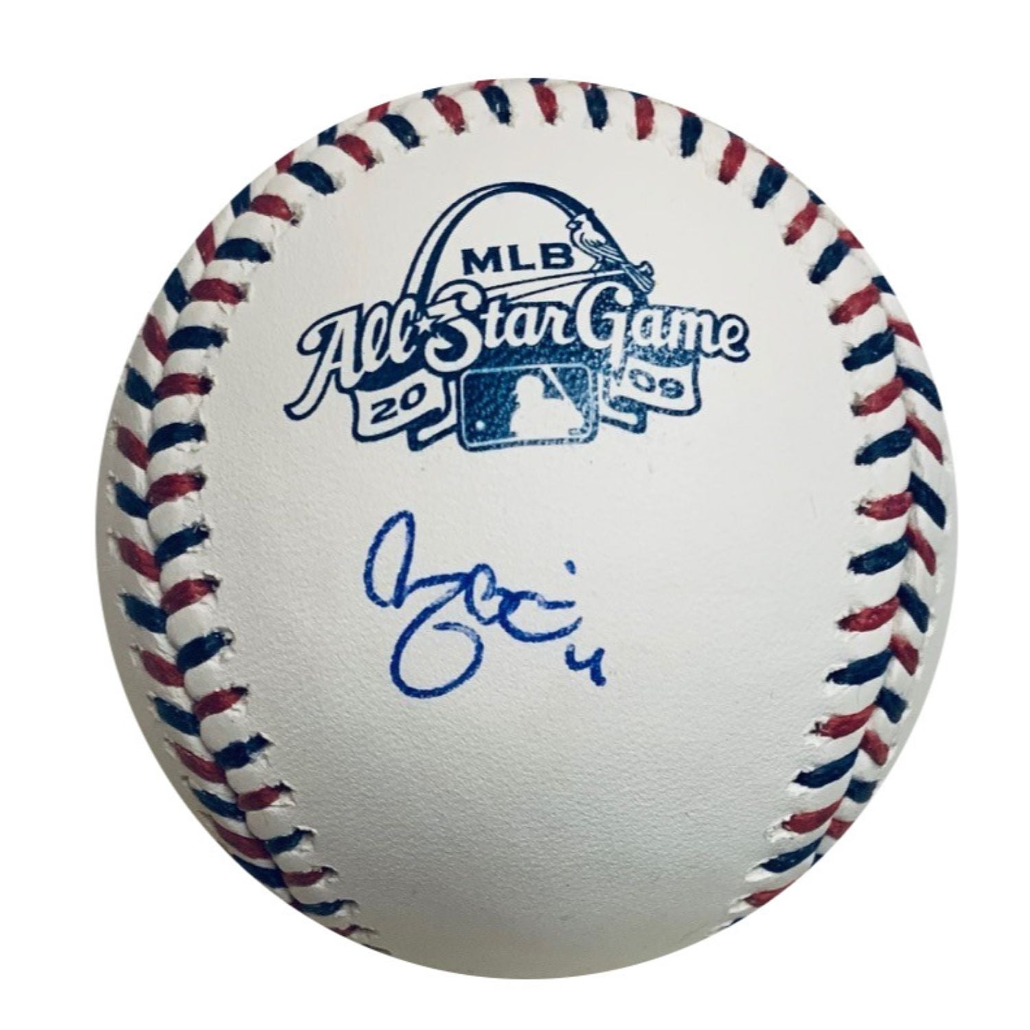 Yadier Molina Autographed St Louis Cardinals 2009 All Star Game Signed Baseball JSA COA With UV Protected Display Case-Powers Sports Memorabilia