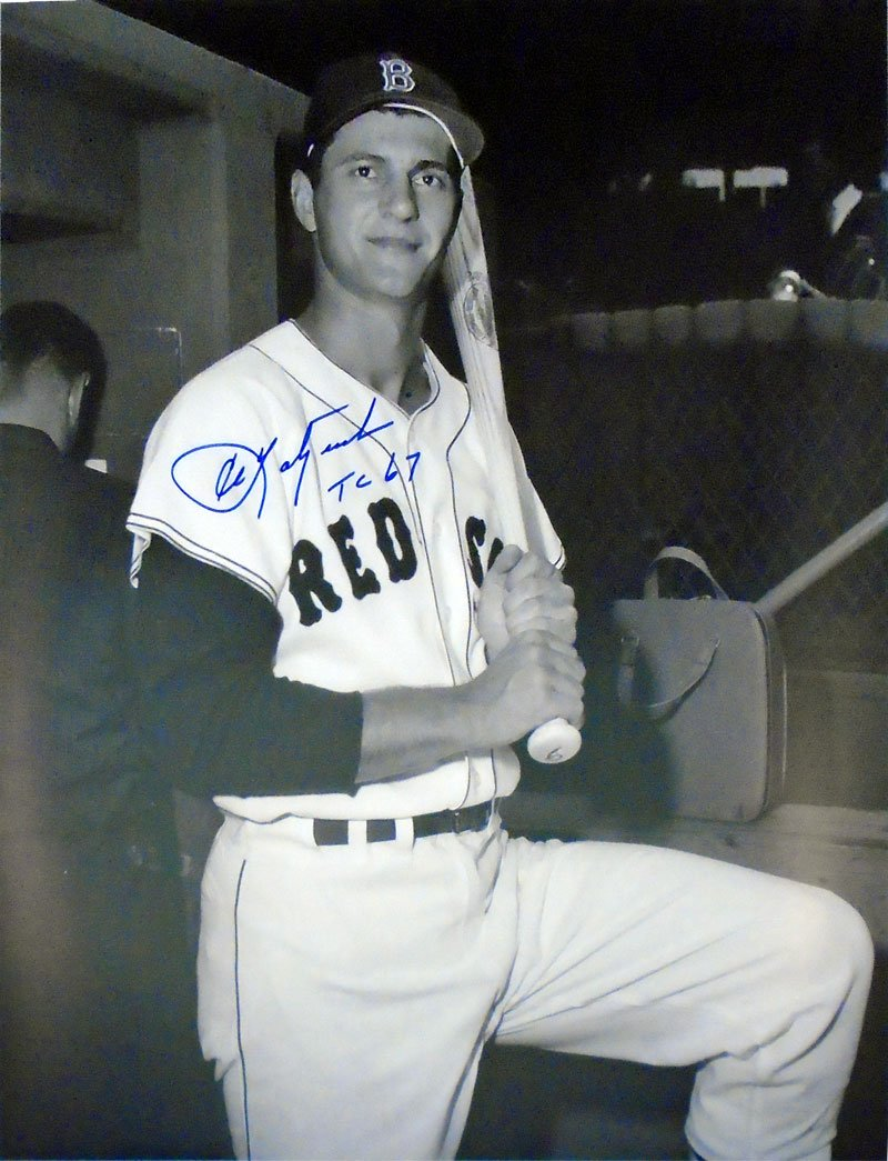 Carl Yastrzemski TC 67 Autographed Rookie 16x20 Photo PSM-Powers Sports Memorabilia