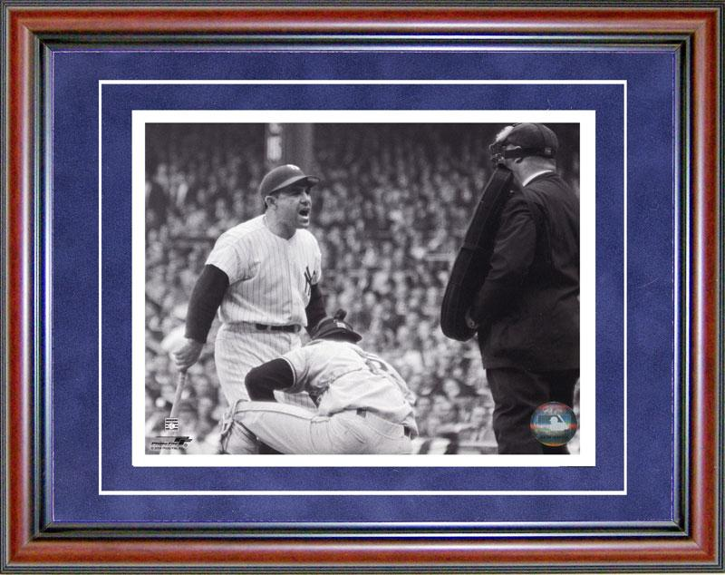 Yogi Berra Unsigned Framed Black & White 8x10 Photo PSM-Powers Sports Memorabilia
