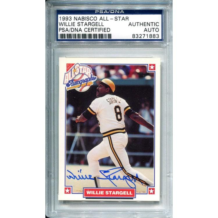 Willie Stargell Autographed 1983 Nabisco Card PSM-Powers Sports Memorabilia