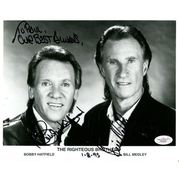 Righteous Brosters Signed 8x10 Photo JSA PSM-Powers Sports Memorabilia