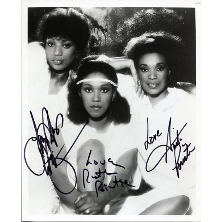 Pointer Sisters Autographed 8x10 Photo PSM-Powers Sports Memorabilia