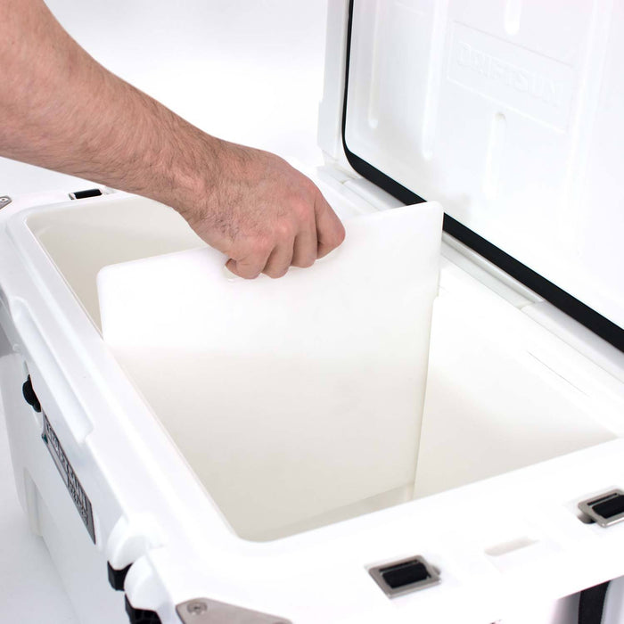 View on how to use the Ice Chest Cutting Board / Divider