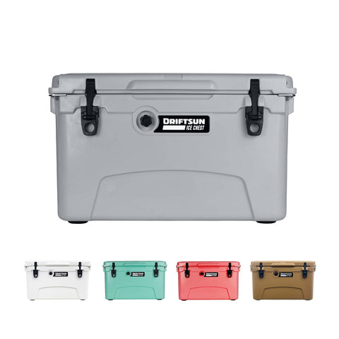 Driftsun 45-Quart Ice Chest, Heavy Duty, High Performance Roto-Molded Commercial Grade Insulated Cooler different color variations